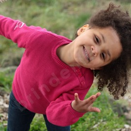 Pull coton uni pour enfant MOUSSAILLON - tous coloris