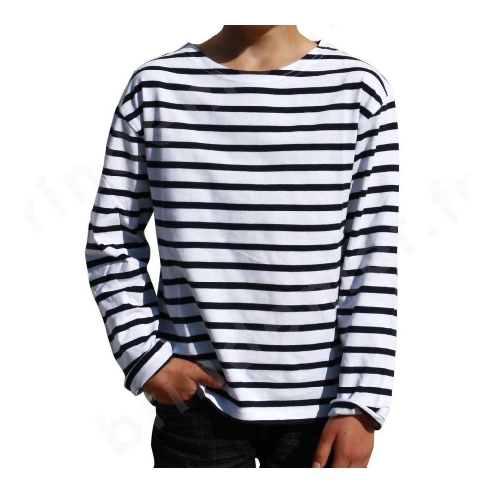 tee shirt ray marin enfant marini re manches longues pour bebe et enfant boutique brin de mer. Black Bedroom Furniture Sets. Home Design Ideas