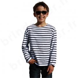 T-Shirt marin ENFANT du 1 au 16 ans à manches longues PECHEUR - tous coloris