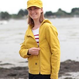 Veste femme SAUZON - coloris encre ou miel print (jaune)