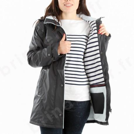 Ciré imperméable doublé hiver femme REGATE CAPTAIN CORSAIRE - marine - vue doublure type