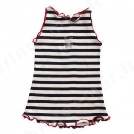 Robe marinière pour bébé et enfant marque Le petit Moulin fabriquée en France