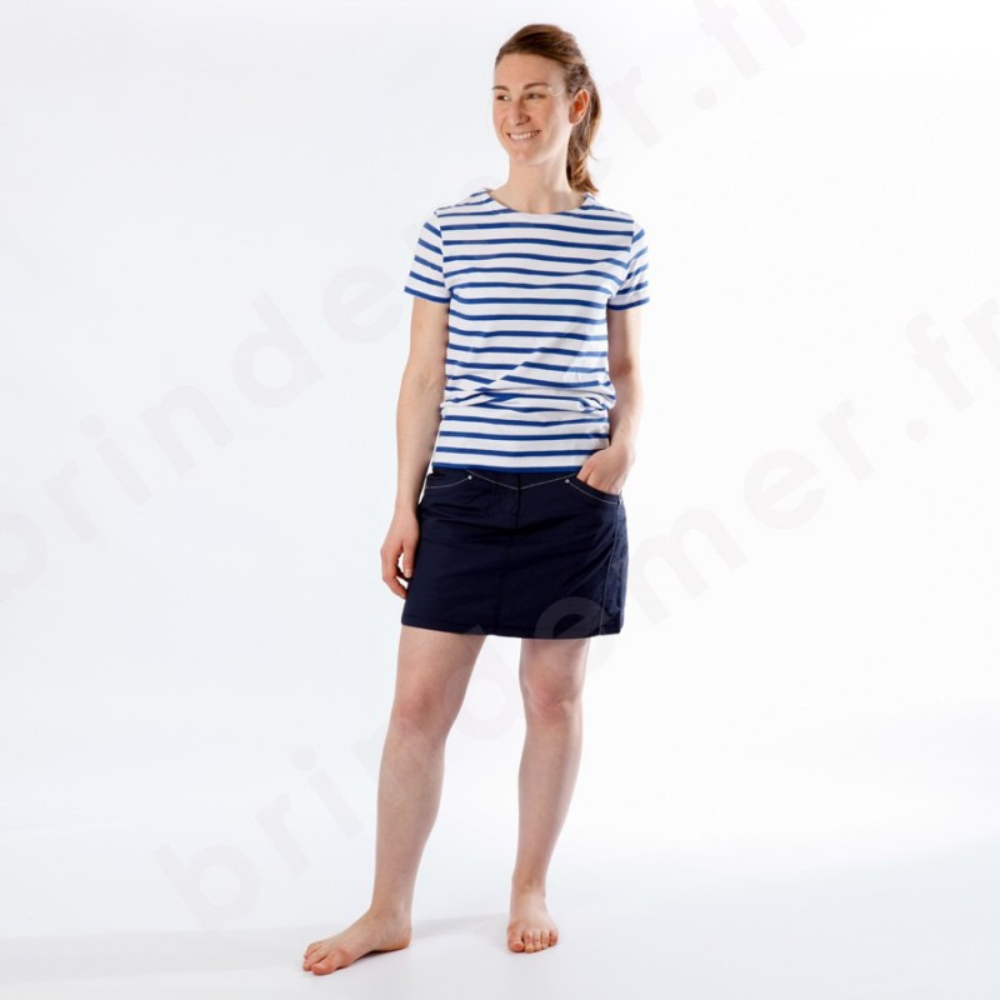 Shirt FemmeMariniere Tee Marin Femme À Manches Courtes mN8vn0w
