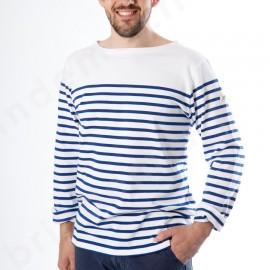 Marinière MARIO - Blanc/bleu Drapeau