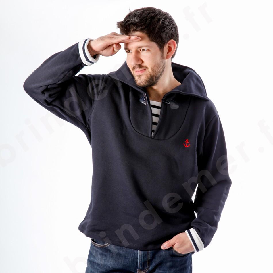Pull marin uni ou rayé façon marinière, gilet et veste