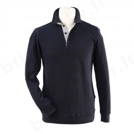 Sweat col polo homme CHERBOURG