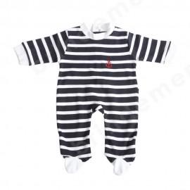 pyjama rayé pour bébé du 6 au 23 mois