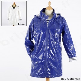 Imperméable ciré brillant 3/4 femme TREPORT