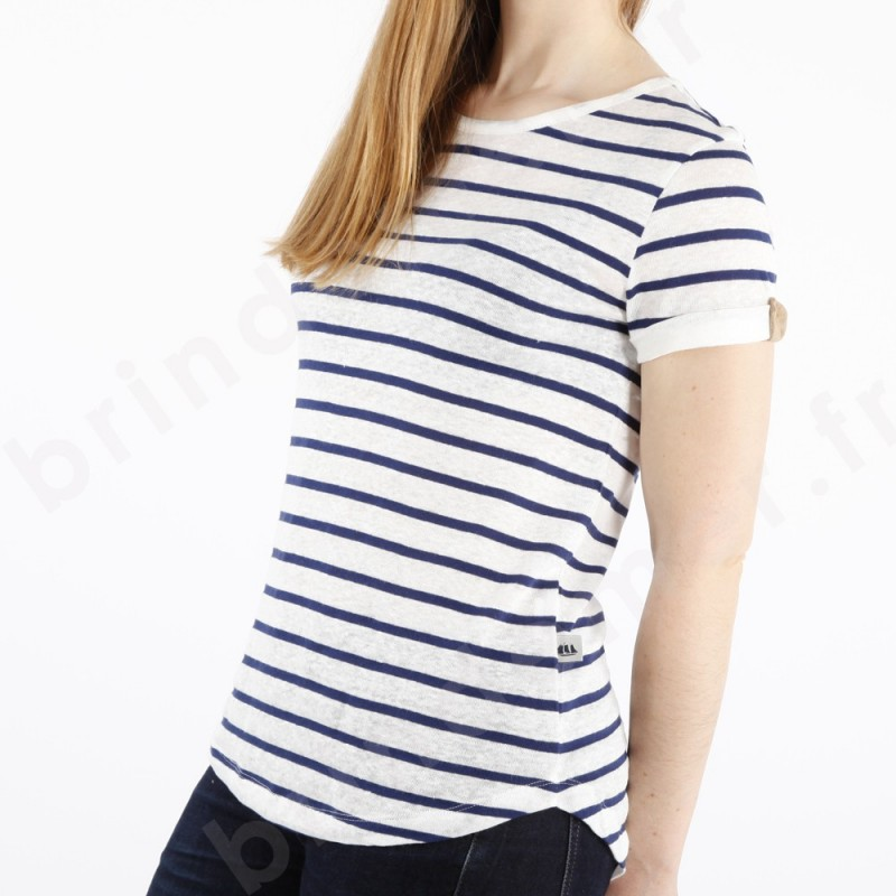 tee shirt marini re femme lin coton rosine brin de mer. Black Bedroom Furniture Sets. Home Design Ideas