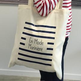 """Tote Bag Brin de Mer - """"En Mode Marinière"""" édition limitée 2016 - 2 coloris au choix"""