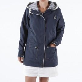 Veste imperméable 3/4 femme BINIC - blanc ou bleu marine