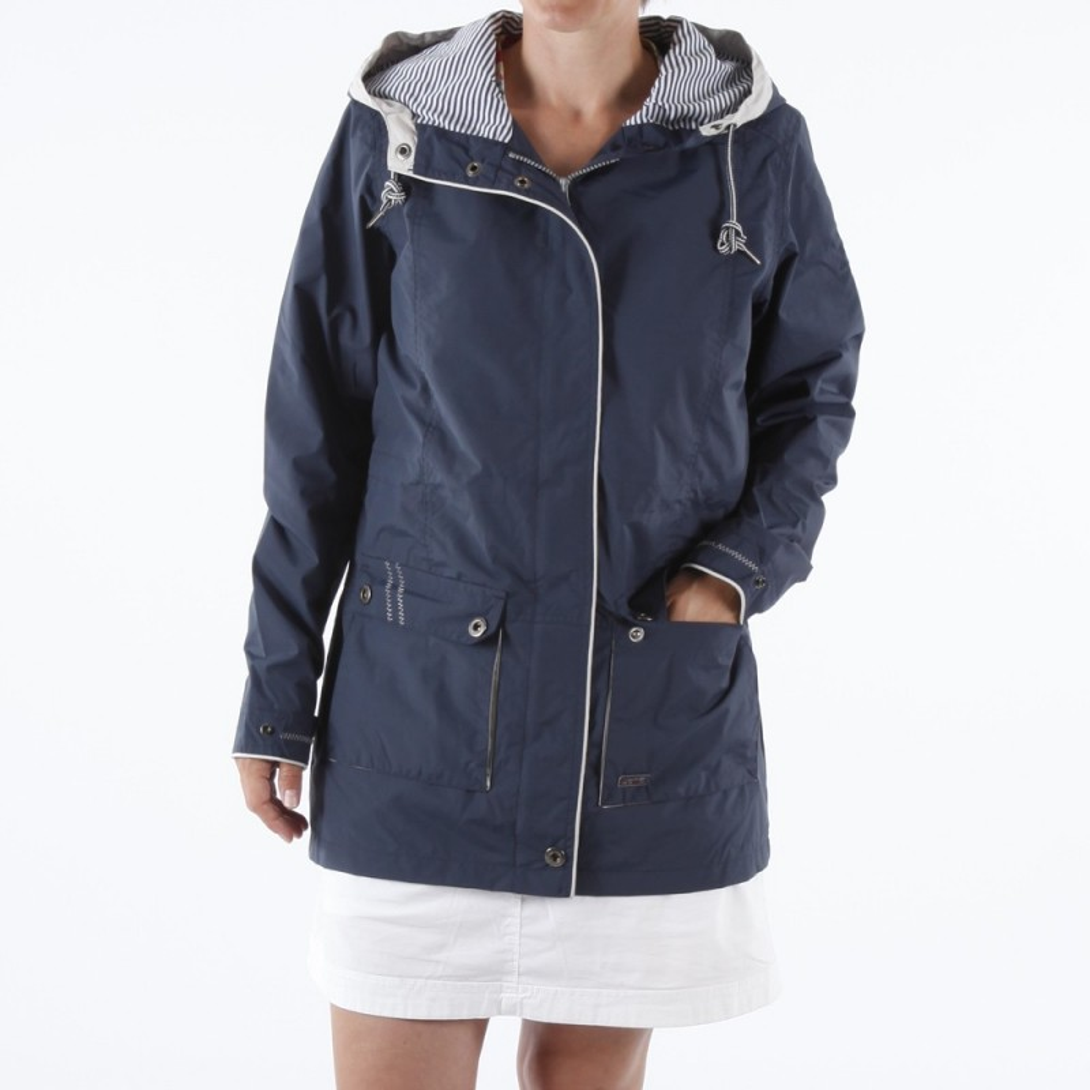 veste coupe vent imperm able 3 4 pour femme doubl e esprit de la mer. Black Bedroom Furniture Sets. Home Design Ideas