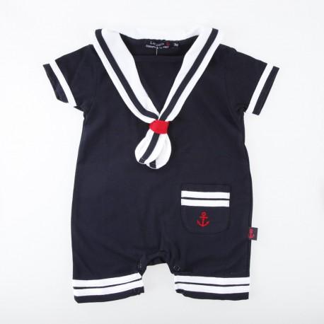 Combinaison bébé à col marin