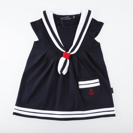 Robe à col marin pour fille