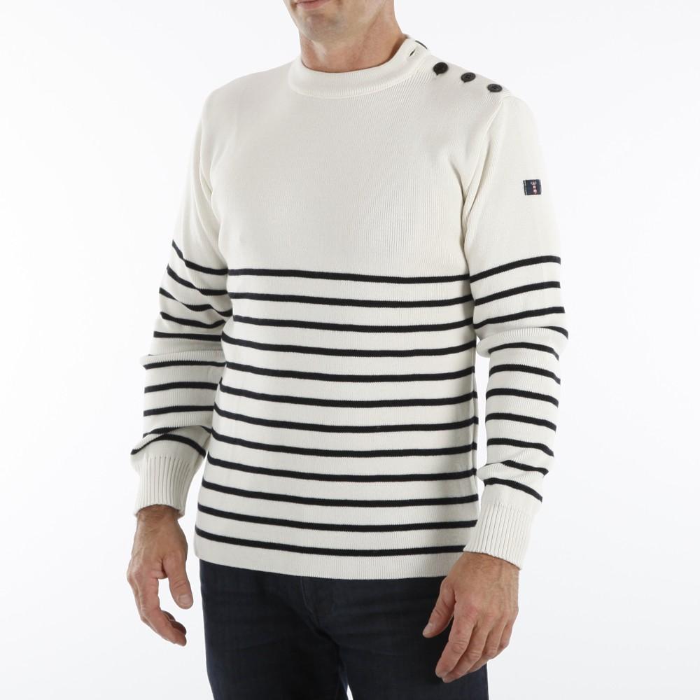 Pull marin uni ou rayé façon marinière, gilet et veste polaire pour ... 279348f75106