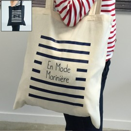 """Tote Bag Brin de Mer - """"En Mode Marinière"""" édition limitée"""