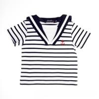 T-shirt manches courtes à col marin FECAMP - coton léger