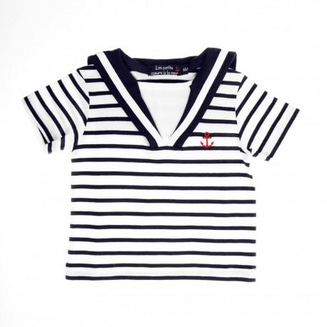 T-shirt manches courtes à col marin FECAMP