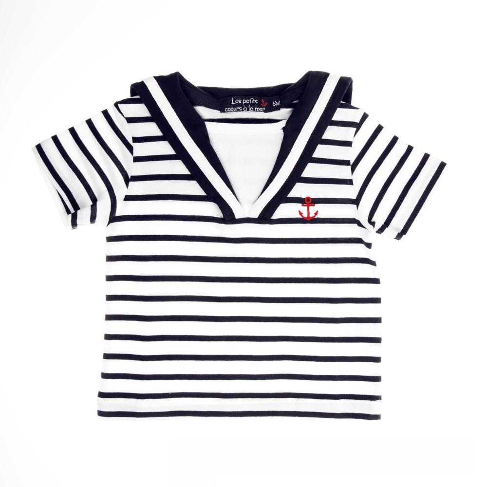 6944ec721481e Tee-shirt rayé MARIN ENFANT, marinière à manches longues pour BEBE ...