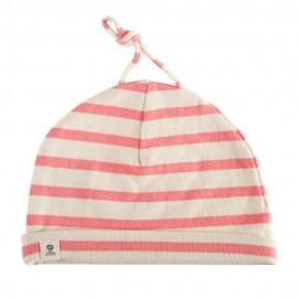 Bonnet coton pour bébé MIMI BABY myosotis/écru
