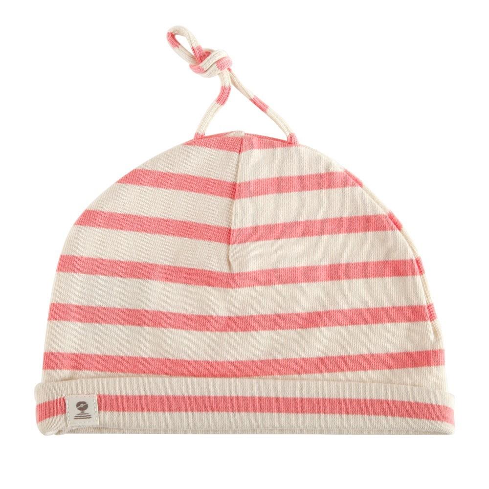 441cc8400af Bonnet coton pour bébé MIMI BABY ecru blush ...