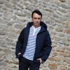 Veste en toile 100% coton pour homme EBAN - bleu marine