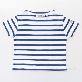 T-Shirt marin ENFANT à manches courtes REGATE blanc/bugatti