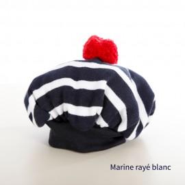 Béret de marin à pompon