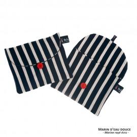 Pochette en marinière recyclée Bleu/Blanc/Rouge