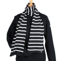 Echarpe tricotée en Bretagne maille coton 50/50