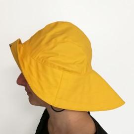Chapeau ciré type Suroît - jaune