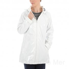 Imperméable brillant long femme ADRIATIQUE - blanc
