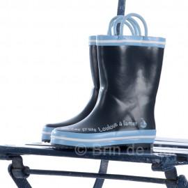 Bottes de pluie enfant 'PANIER'- coloris bleu