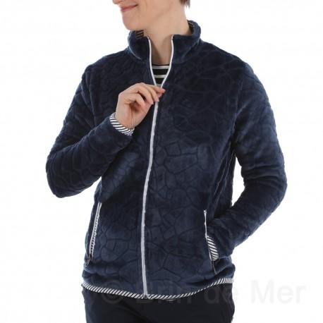 Veste polaire Femme POULPE - coloris bleu effet marbré