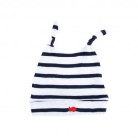 Bonnet coton ALABORDAGE blanc/marine