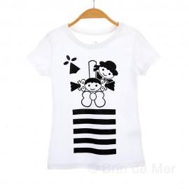 Tee-shirt breton fille AELIC
