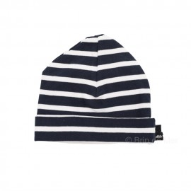 Bonnet rayé marin COTON - INTERJ - blanc/marine