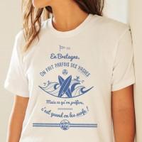 T-shirt femme - En Bretagne, on fait parfois des vagues...
