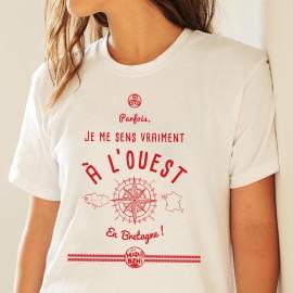 T-shirt - Parfois, j'me sens vraiment à l'Ouest en Bretagne