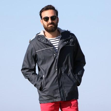 Parka ciré pour homme doublé polaire - HELIE - Marine