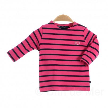 Marinière enfant LA ROCHELLE pink / bleu marine