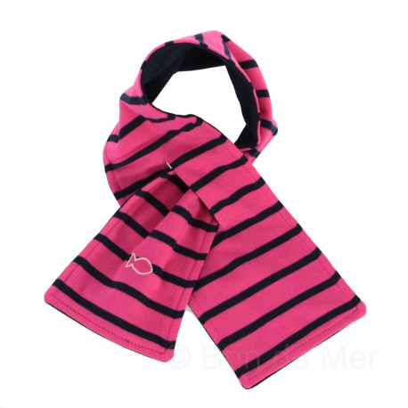 Echarpe enfant winter scarf - navy / pink rose