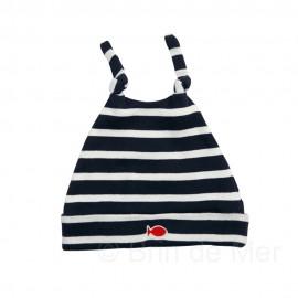 Bonnet coton ALABORDAGE marine/écru