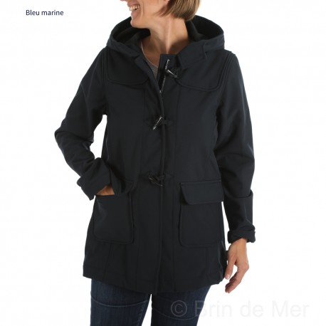 Veste à capuche Softshell genre duffle-coat HARLEY