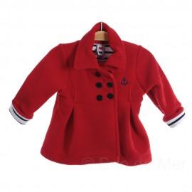Caban rouge Hermès polaire pour fille