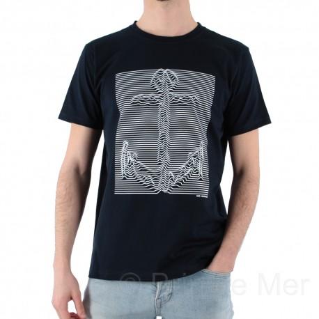 e8a01be8c9d T-shirt homme col rond imprimé ancre marine de la marque HUBLOT