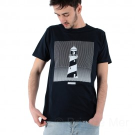Tee-shirt col rond imprimé Phare KHAN