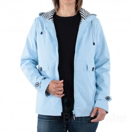 Ciré à capuche DORIS pour femme coloris Glacier (bleu ciel)