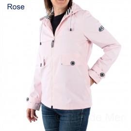 Ciré à capuche DORIS pour femme coloris Rose pétale (rose pâle)