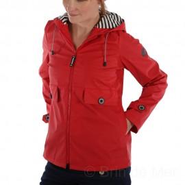 Ciré à capuche DORIS pour femme coloris Rouge